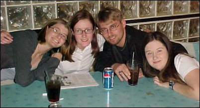 And here's the whole crew! From left, we have Laura Jane, Amanda, Scott, and Heather.