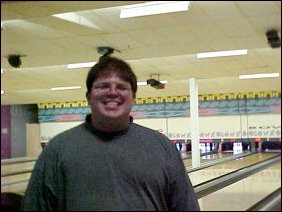 Seems that I'm all smiles after bowling my first frame...