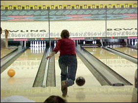 Continuing on, Amanda makes another shot. This was one of her best games ever, as was the same for Laura Jane.