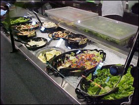 The Produce Market takes the salad bar approach and gives it a new feel, with the special serving trays for the lettuce and such.