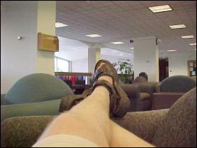 Now this is the life... laying across one of the airport lounge couches, collecting my thoughts...