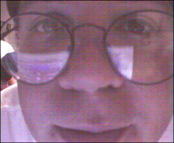 I look directly into a Web Cam on the fifth floor on the freshman side... some have commented that I kind of look like Harry Potter in this shot.