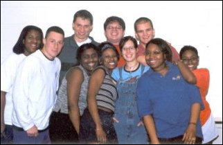 What an awesome hall staff we were! From left to right, we have Mecca, Gee, Greg, Ketia, Dorian, myself, Blu, Ray, Renita, and Chandra.