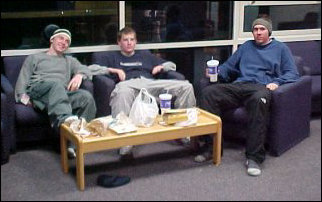 Some of my residents take a moment to enjoy Taco Bell in the TV lounge...