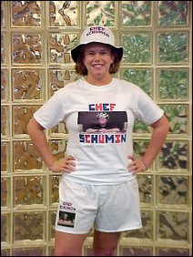 And there you have it! Completely decked out in Schumin Web apparel!