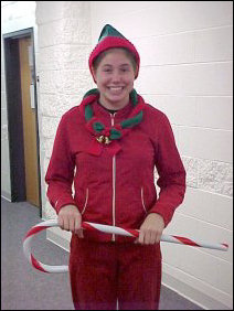 Callie went as one of Santa's elves - how festive!