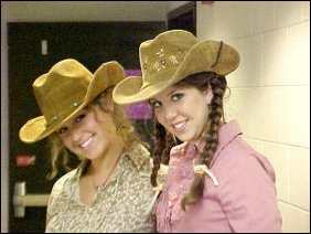 Cowgirls are another favorite, with these two girls complete with rope strung through a belt-loop.