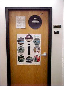 The door itself is mostly functional. Who am I, where am I, and what are the RA phone numbers.