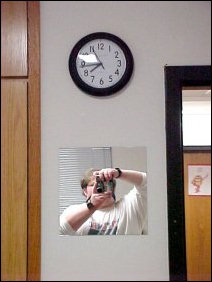 """What happened to the Titanic clocks?"" is probably the question you're asking. Well, they broke after they fell off the wall in the middle of the night last year. So I bought a clock and a mirror (which I really only use for shaving and hair), and hung 'em up."