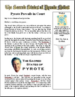 The Sacred States of Pyrote News