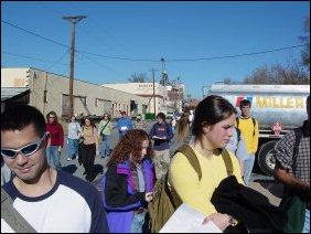 The class continues along Chesapeake Avenue, heading toward Grace Street.