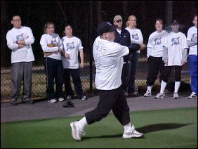 "And in typical Johnny style (with ""THUG"" written on the back), he nails the ball."