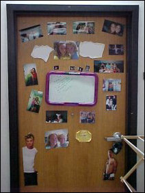 This door is alive with real photos and cutouts!