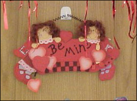 """Be mine!"" This decoration clearly violates my own personal decoration policy, but it's neat, and still there, despite this being a weekend."