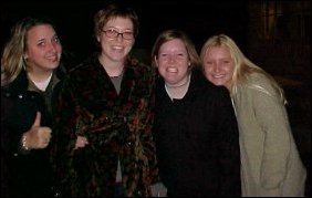 Some of our friends from the November 2000 Web Cam archive stop on their way to the Festival for a photo.