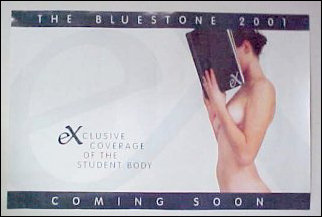 Such racy posters for The Bluestone this year!