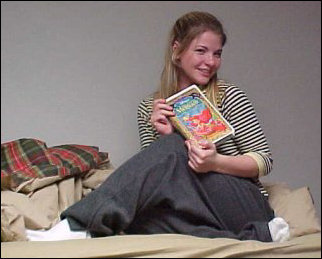 We got a visit from Oxayna McMattas, who is from Britain, one Thursday night.  We ended up watching The Little Mermaid with her.