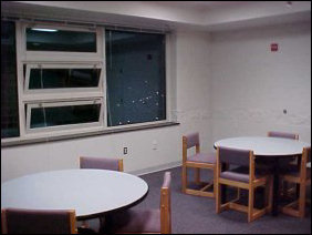 This is the study lounge... very comfy place to study.  And just down the hall from me!
