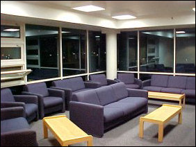 And this is the TV Lounge.  Unlike at MGL, we have one per floor... very nice, though rarely used.