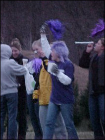 As you can see, pom-poms and noisemakers are the order of the day.