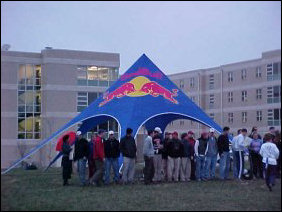 This event was sponsored by the makers of Red Bull, a canned sports drink.