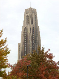 The Cathedral of Learning at the University of Pittsburgh was in full view from where we parked, another gorgeous neo-gothic building.
